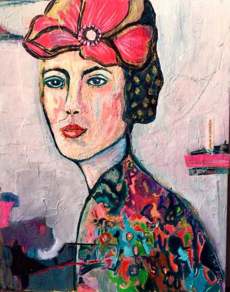 Expressive portrait painting