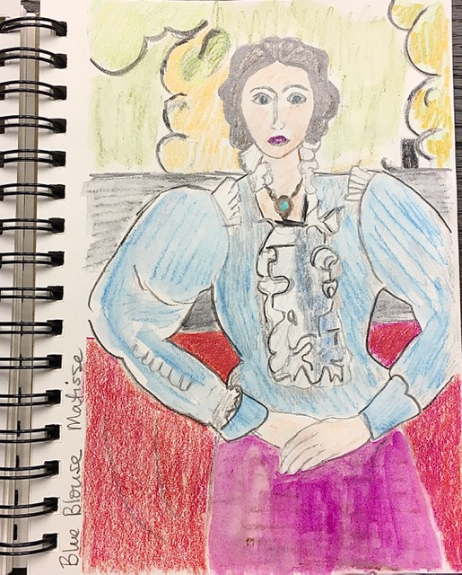 Blue Blouse Sketch (Matisse)