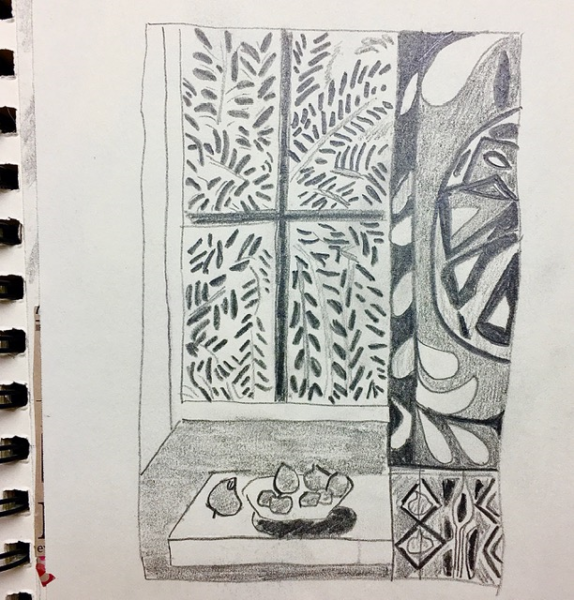 Sketch of Matisse work