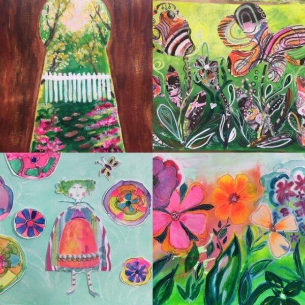 Secret Garden art lessons taught by Linda Sagastume