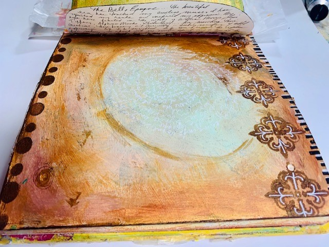 Art Journal page from Belle Epoque Class