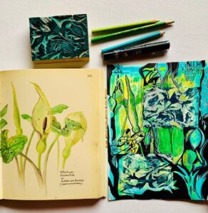Abstract Botanical Art Journal Page